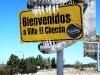 L\'insegna all\'ingresso di  El Chocón