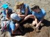 La scoperta di un fossile di megaterio (2 milioni di anni) La spiaggia di Monte Hermoso