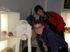 Pietro e Amrit tra gli scheletri del Museo delle Scienze di Trento